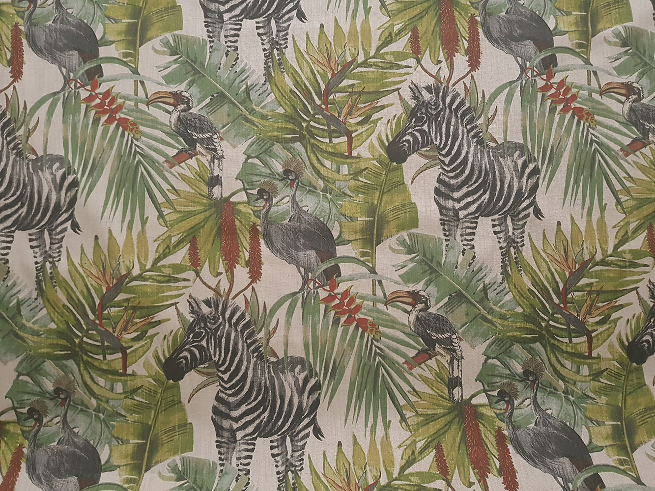 Tropical Animals Fabric